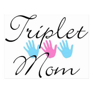 triplet mom postcard