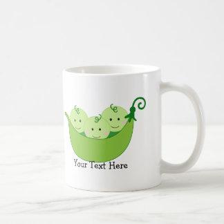 Triplet Pea Pods (customizable) Classic White Coffee Mug