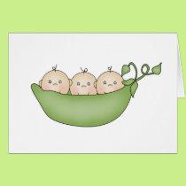 Triplet Peas in a Pod Card