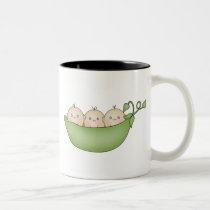 Triplet Peas in a Pod Two-Tone Coffee Mug