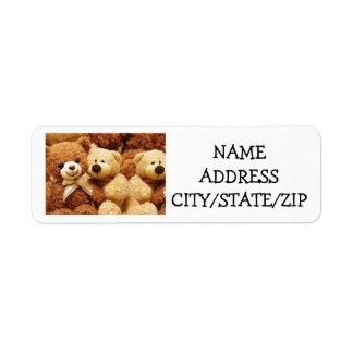 *TRIPLET* TEDDY BEAR FOR TRIPLET'S PARENTS LABELS