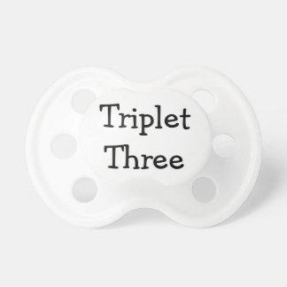 Triplet Three Pacifier