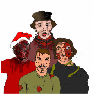 Triplet Zombie Distrubia Ornament Acrylic Cut Outs