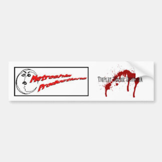 Triplet Zombie Disturbia Bumper Sticker