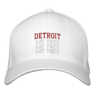 TRIPLETA de Detroit Gorras Bordadas