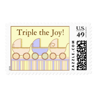 Triplets 2 Girls One 1 Boy Postage