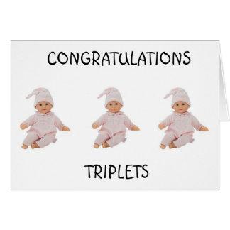 **TRIPLETS** 3 BUNDLES OF JOY & TRIPLE THE LOVE CARD