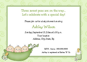 Triplet baby invitations announcements zazzle triplets baby shower invitations filmwisefo