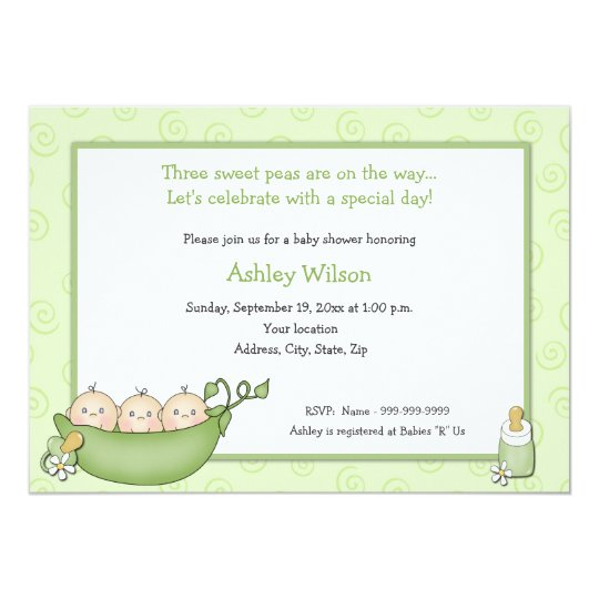 Triplets baby shower invitations zazzle triplets baby shower invitations filmwisefo