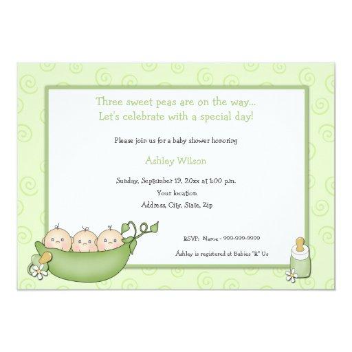 Triplets Baby Shower Invitations