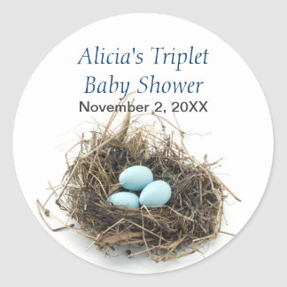 Triplets Baby Shower Sticker
