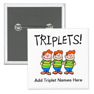 Triplets (Boys) Pinback Button