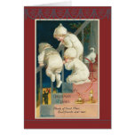 Triplets Christmas staircase Ellen H. Clapsaddle Card