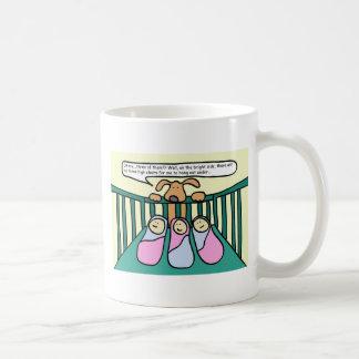 Triplets Coffee Cup Classic White Coffee Mug