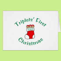 Triplets First Christmas Card