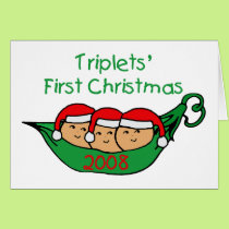 Triplets First Christmas - Pod 2008 Card
