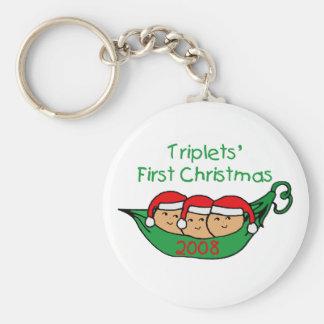 Triplets First Christmas - Pod 2008 Keychain