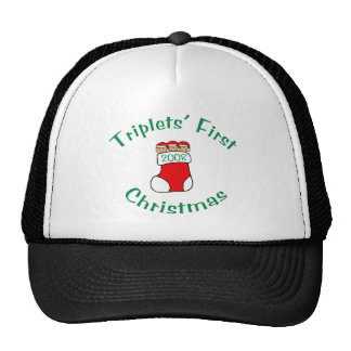 Triplets First Christmas - Stocking 2008 Trucker Hat