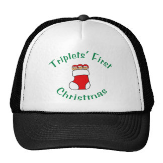 Triplets First Christmas - Stocking (no date) Trucker Hat
