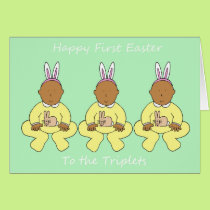 Triplets first Easter Card