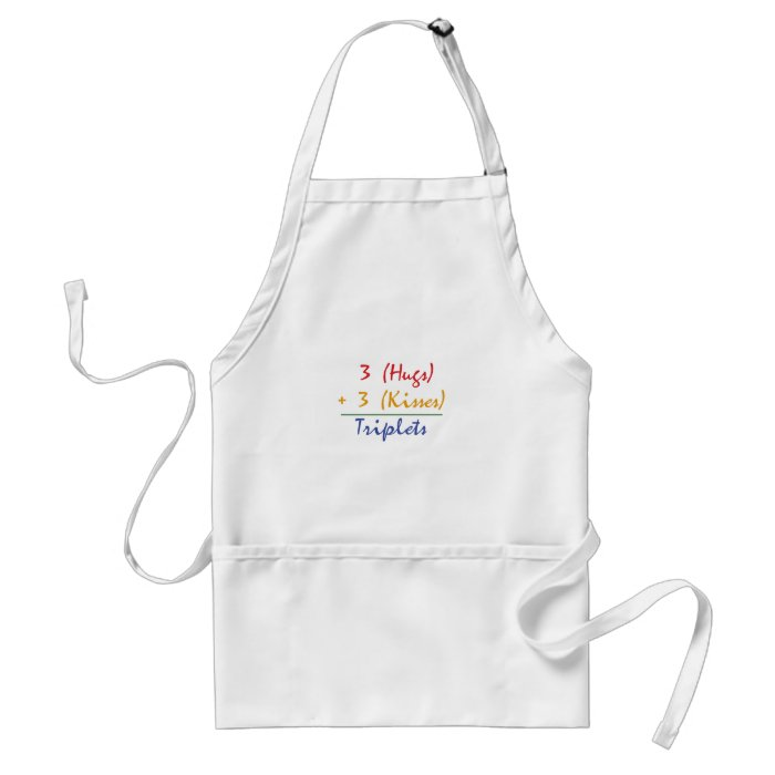 Triplets Math Adult Apron
