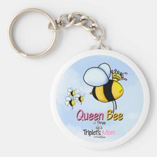 Triplet's Queen Bee aka Mom keychain
