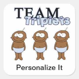 Triplets Square Sticker