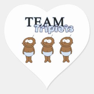 Triplets Heart Sticker