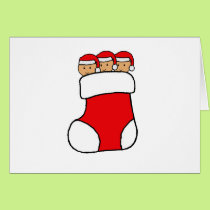 Triplets Stocking Graphic Card