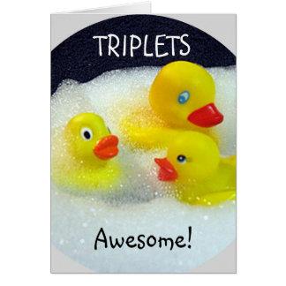 """TRIPLETS"" TRIPLE LOVE/HUGS/KISSES/FUN CARD"