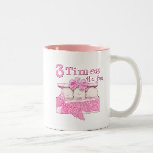 Triplets Two-Tone Coffee Mug