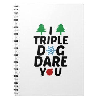 Triplico atrevimiento del perro usted libreta espiral