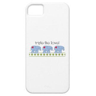 ¡Triplique el amor! iPhone 5 Carcasas