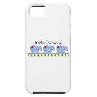¡Triplique el amor! iPhone 5 Case-Mate Cobertura