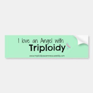Triploidy Awareness Car Bumper Sticker