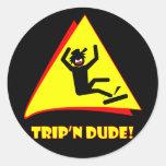 TRIP'N DUDE 12 ROUND STICKERS