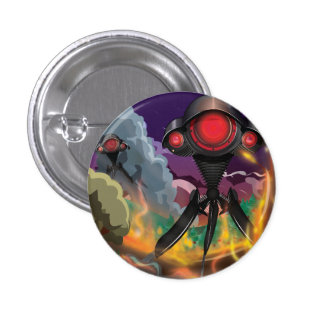 Tripod Pinback Button