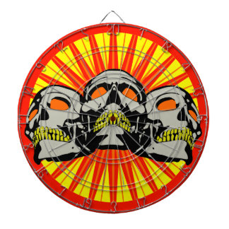 Tripolarize Skulls Dartboard With Darts