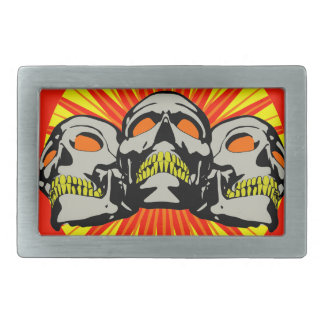 Tripolarize Skulls Rectangular Belt Buckle
