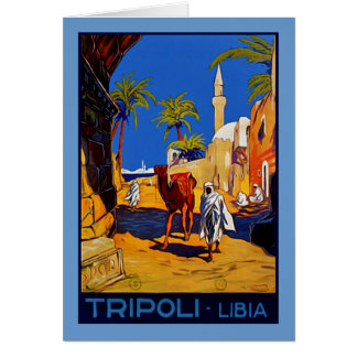 Tripoli - Libia (Libya) Greeting Card
