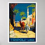 Trípoli Libia - posters del viaje del vintage