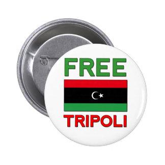 Trípoli libre pin redondo de 2 pulgadas