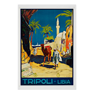 Tripoli Libya Vintage Travel Print