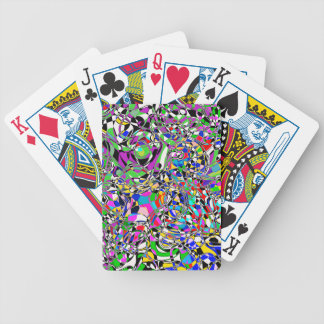 TRIPPED OUT COLORS POKER DECK