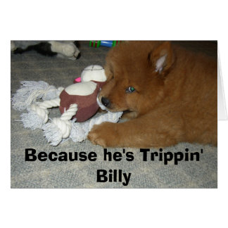 Trippin' Billy notecard