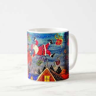 Trippin' Santa Claus Coffee Mug