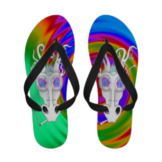 tripping dragon rainbow style sandals