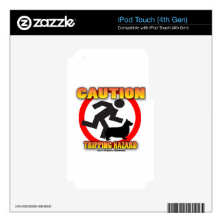 tripping hazard copy skins for iPod touch 4G