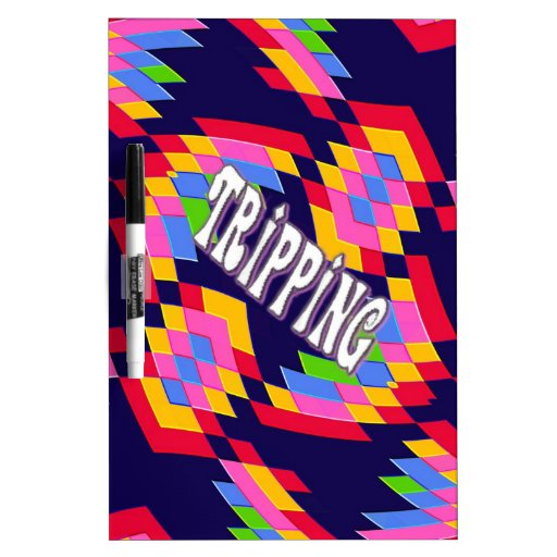 Tripping in Style: Retro Psychedelic Design Dry Erase Boards