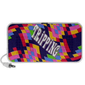 Tripping in Style: Retro Psychedelic Design Travel Speakers